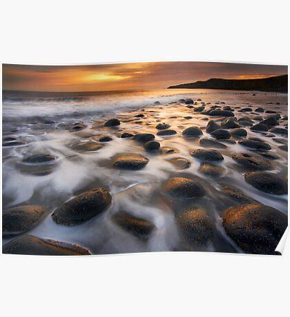 Dark Sky Sunrise, Northumberland Poster