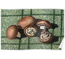 Fresh baby bella mushrooms Poster