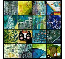 montage blue-green Photographic Print