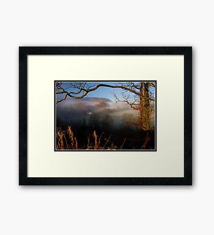 Morning fog over the Ribble Valley Framed Print