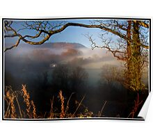 Morning fog over the Ribble Valley Poster