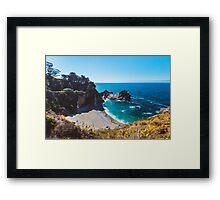 McWay Falls in California, Big Sur Framed Print