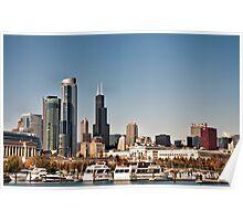 Chicago Sky Line Poster