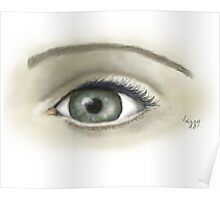 Eye  sketch with digital paintbrush Poster