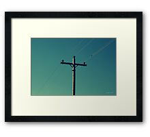 Simple Electricity Framed Print