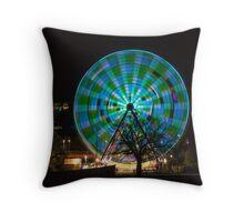 Birrarung Marr Ferris Wheel - greens Throw Pillow