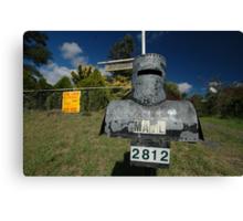 Letterbox (Ned Kelly helmet-shaped), Lue, NSW, Australia Canvas Print