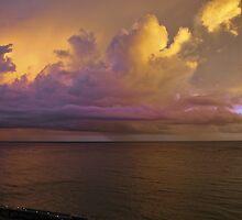 Island Sunrise by Jarede Schmetterer