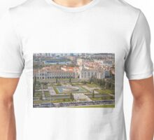 Jerónimos Monastery and the Empire Plaza. Unisex T-Shirt