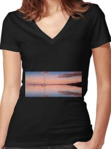 A Piece of Tranquility Shornecliffe Brisbane QLD Australia Women's Fitted V-Neck T-Shirt