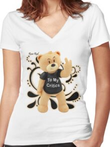 Rose Red - To My Critics Women's Fitted V-Neck T-Shirt