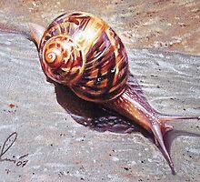 Snail by Elena Kolotusha
