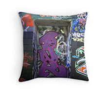 Who or what's behind the door? Throw Pillow