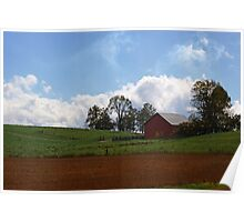 Red Barn - Indiana Poster