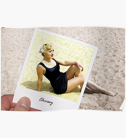 Chrissy @ the Beach Poster