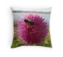 Paintbrush Busy Bee Throw Pillow