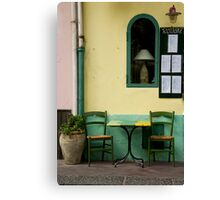 Streetside Table Canvas Print