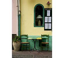 Streetside Table Photographic Print