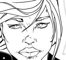 New 52 Supergirl B/W Sticker