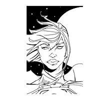 New 52 Supergirl B/W Photographic Print