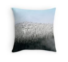 Season's First Mountain Snow Throw Pillow