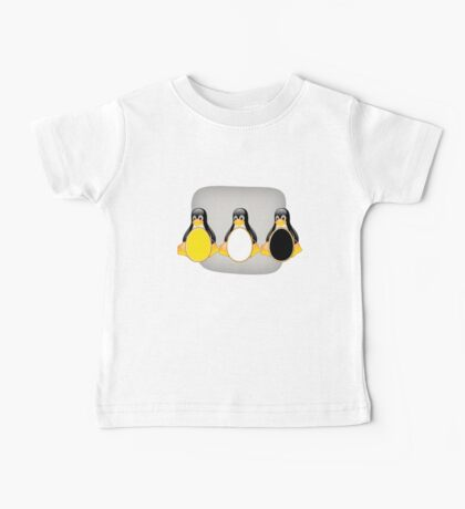 LINUX TUX PENGUIN  3 COLOR EGGS Baby Tee