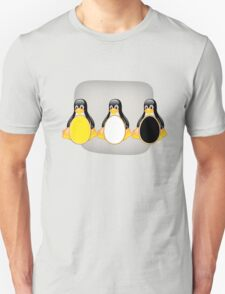 LINUX TUX PENGUIN  3 COLOR EGGS Unisex T-Shirt