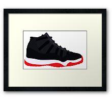 """Air Jordan XI (11) """"Bred"""" Framed Print"""