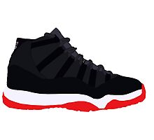 "Air Jordan XI (11) ""Bred"" Photographic Print"