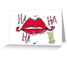 Joker Lips Greeting Card