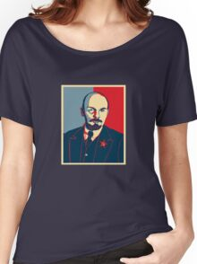 LENIN RED BLUE PORTRET  Women's Relaxed Fit T-Shirt
