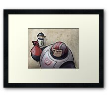 Space Buffoon Framed Print