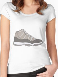 "Air Jordan XI (11) ""Cool Grey"" Women's Fitted Scoop T-Shirt"