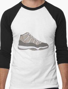 """Air Jordan XI (11) """"Cool Grey"""" Men's Baseball ¾ T-Shirt"""
