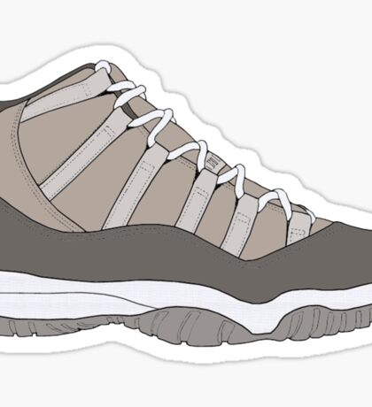 "Air Jordan XI (11) ""Cool Grey"" Sticker"