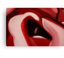 Rose Macro Abstract in Oil Canvas Print