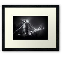 Clifton Suspension Bridge Fog Framed Print