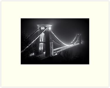 Clifton Suspension Bridge Fog by Alan Watt