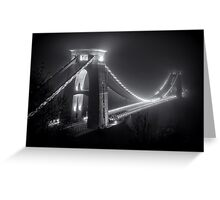 Clifton Suspension Bridge Fog Greeting Card