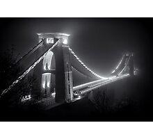 Clifton Suspension Bridge Fog Photographic Print