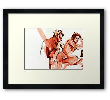 Sitting Here Framed Print