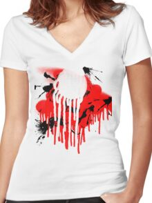drips Women's Fitted V-Neck T-Shirt