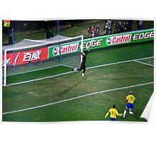 Julio Cesar - Brazillian Goalie Poster