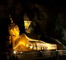 Sleeping Buddha in Monkey Cave - Phuket by Naleen Senevirathne