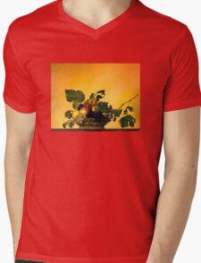 """Basket of Fruit"" Mens V-Neck T-Shirt"
