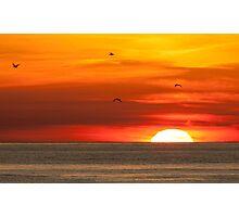 Sunset at Utoro Photographic Print