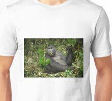 eating mountain gorilla, Gorilla beringei beringei Unisex T-Shirt