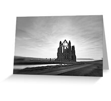 12th century Whitby Abbey Greeting Card