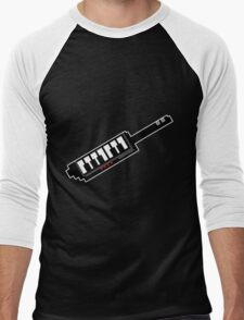 8Bit Keytar Pixels Men's Baseball ¾ T-Shirt