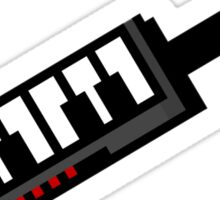 8Bit Keytar Pixels Sticker